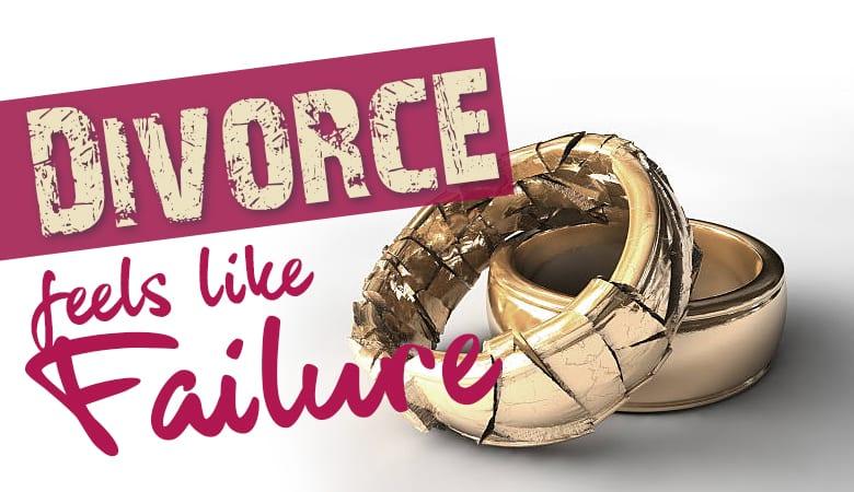 Divorce feels like failure